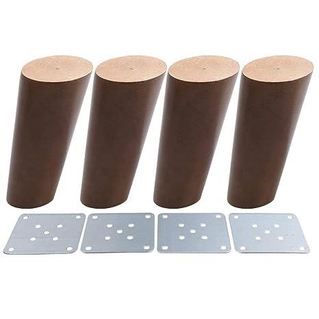 Amazon.com: Madera oblicuo, patas de muebles de madera ...