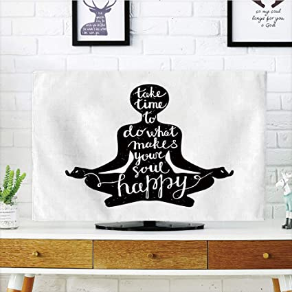 Amazon.com: iPrint LCD TV Cover Lovely,Yoga,Black Silhouette ...