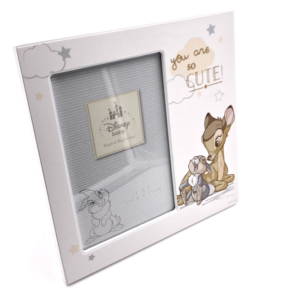 """DISNEY Bambi Scan Photo Picture Frame 4x3/"""" Gift Box Christening Baby Shower"""