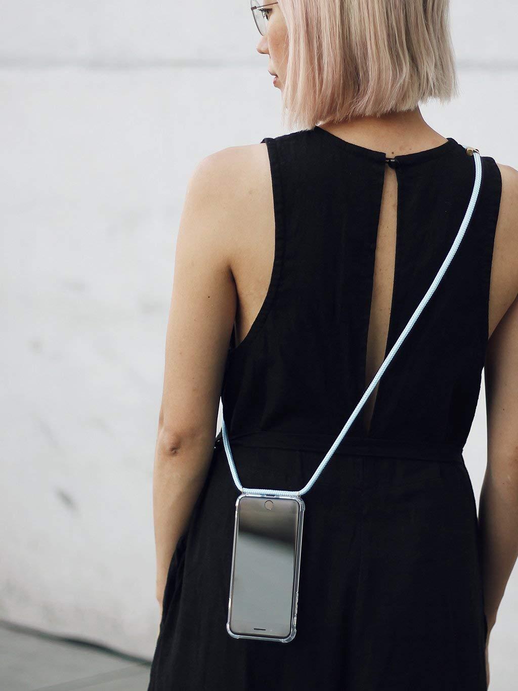 //étui avec Sangle pour Tenir Autour de Votre Cou Cordon de Suspension Coque Lanyard Sangle Cha/îne Knok Coque Collier Tour de Cou Coque Mobile iPhone//Samsung/