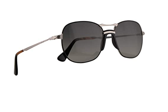0bada8bbd53cc Image Unavailable. Image not available for. Color  Persol PO2449S Sunglasses  Silver Black ...