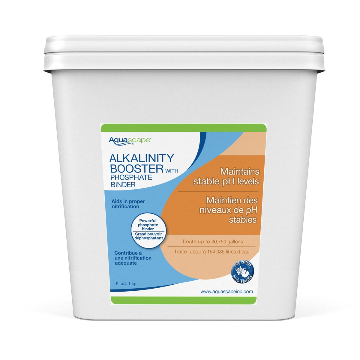 Aquascape Alkalinity Booster with Phosphate Binder for Pond Water, 9-Pound | 96028
