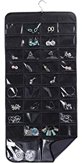 Amazoncom Misslo 44 Pockets Oxford Hanging Jewelry Organizer with