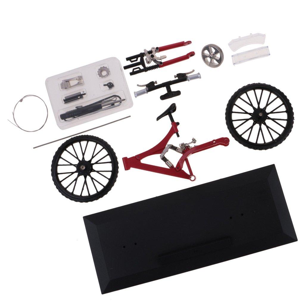 MonkeyJack Red DIY Bicycle Mountain Bike Model Home Desktop Office Decor Ornaments