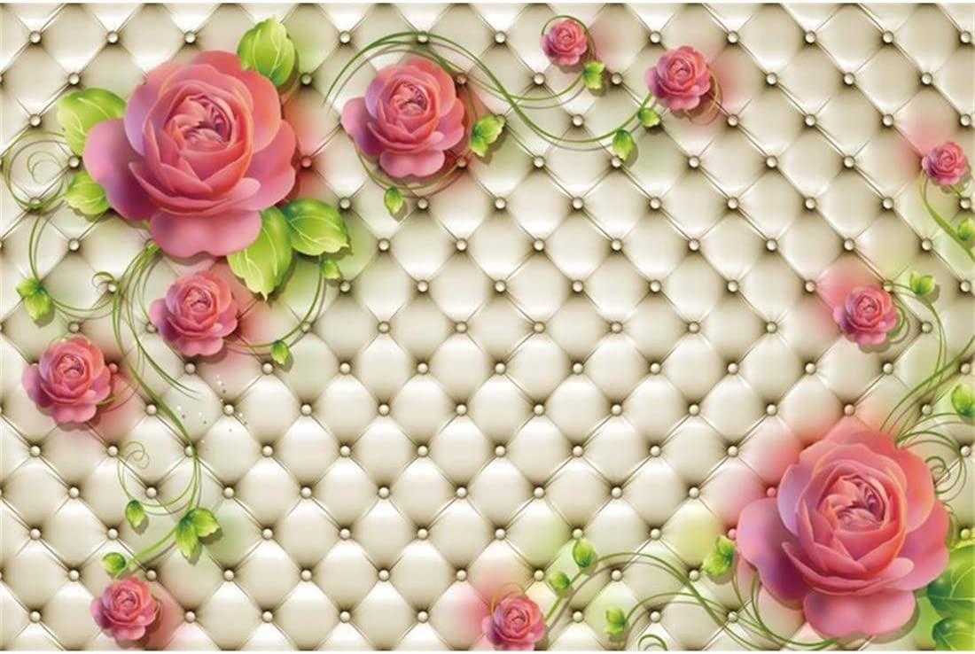 Yeele 10x8ft Birthday Background for Photography Happy Birthday Party Decoration Soft Sofa Furniture Pink Flower Rose Princess Boy Girl Child Photo Backdrop Portrait Studio Props Wallpaper