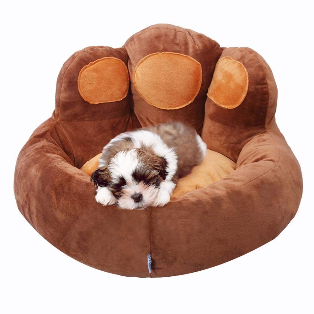 Dream-cool - Alfombrilla para Mascota, Cama para Perro, Mascota, Gato y Oso de Invierno, Forma de Huella de Huevo, Mascota, Nido, Perro, Peluche, Cama para ...