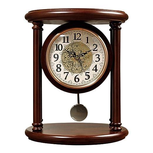 NNIU-ZH Reloj de Escritorio- Reloj de sobremesa, Madera, sin ...