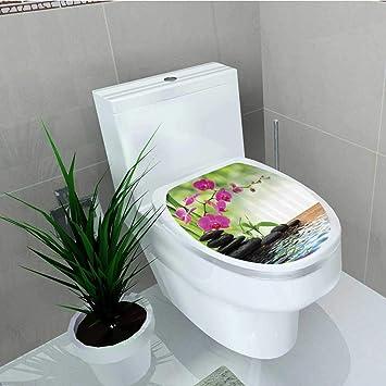Printsonne WC-Sitz Aufkleber Vinyl schwarz Zen STE Drillinge ...