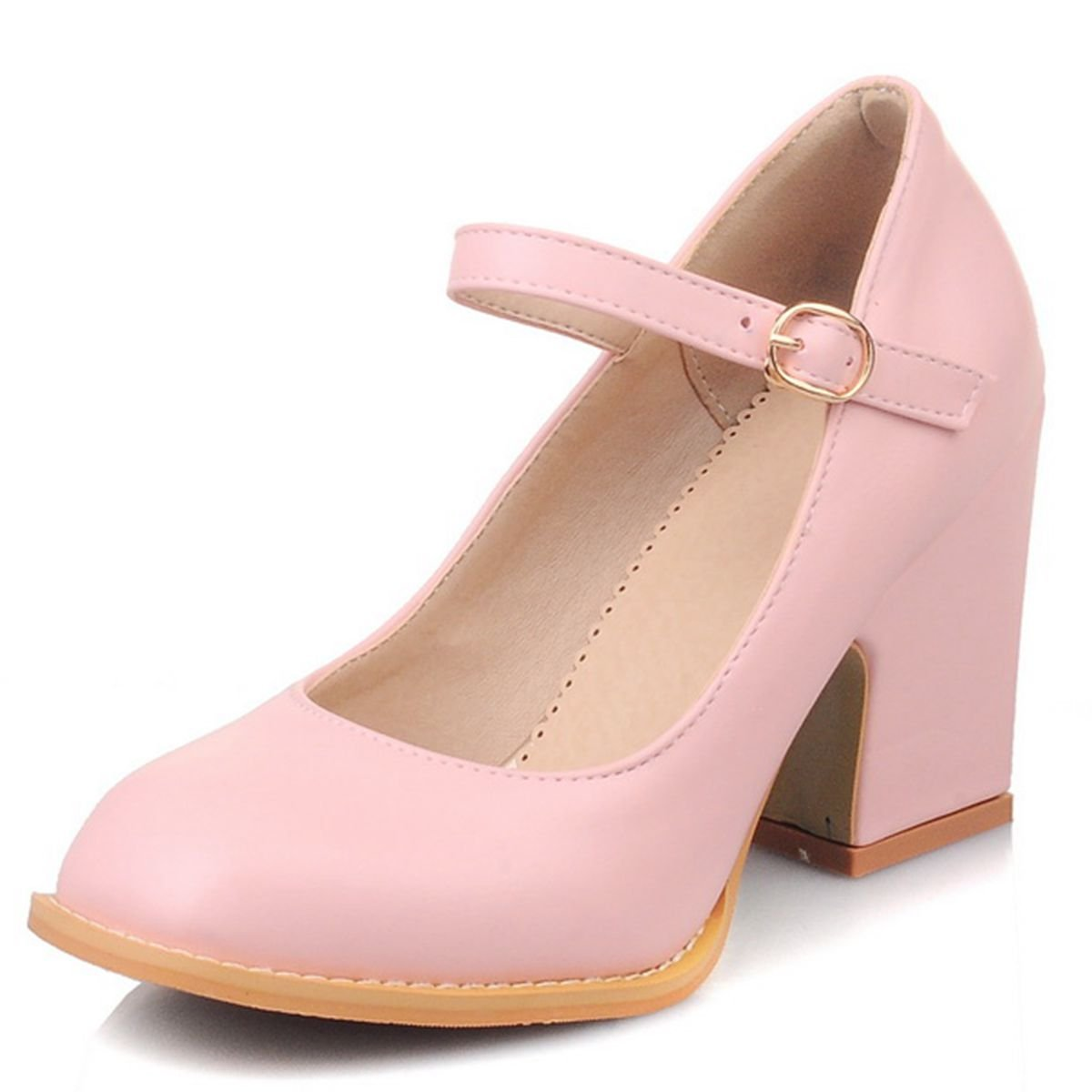 Zanpa Damen Sweet Pumps Mid Heels With Bow38 EU (sole length 24.5 CM)Black