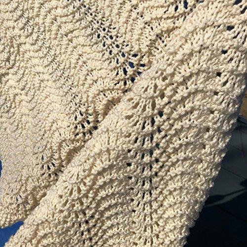 Natural Knit Shawl - Afghan Shawl