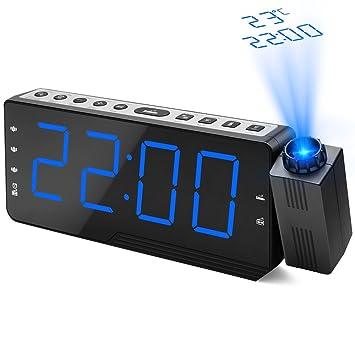 Despertador de Proyección, Dohomai Reloj de Alarma de Radio ...