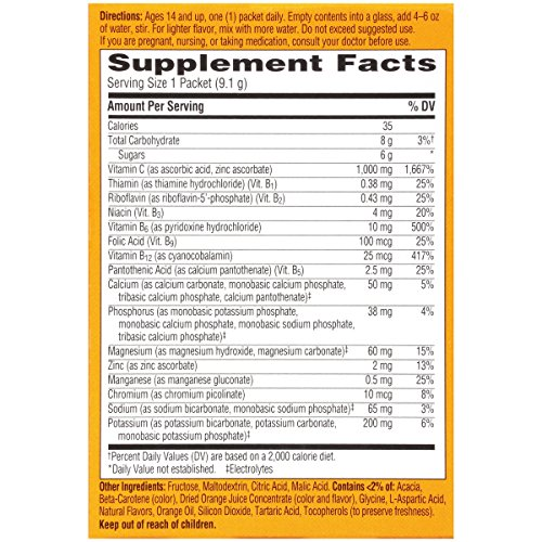 076314302970 - Emergen-C Dietary Supplement with 1000mg Vitamin C (Super Orange Flavor, 10-Count 0.32 oz. Packets) carousel main 8
