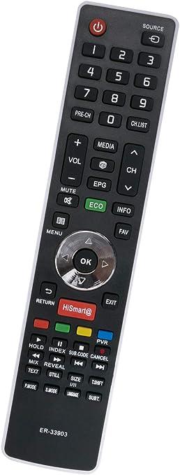 ALLIMITY ER-33903HS T162274 Reemplace el Control Remoto por Hisense Smart TV 50K220 LHD32K160 LTDN50K166WSEU LHD32K20SEU LHD32K20DW LTDN40K366WCEU LHD32K366WCEU LHD32K160WSEU LHD24K300WSEU: Amazon.es: Electrónica