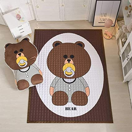 Alfombra de arrastre extra grande para bebés, Alfombras decorativas antideslizantes, Alfombra de juegos para