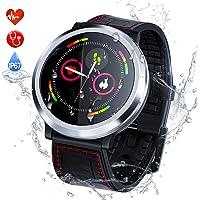 Zagzog Smartwatch, Reloj Inteligente Hombre Mujere Pulsera Actividad Multifuncion Color Monitor Reloj Deportivo Impermeable IP67 Pulsera Inteligente para Moviles iOS Android