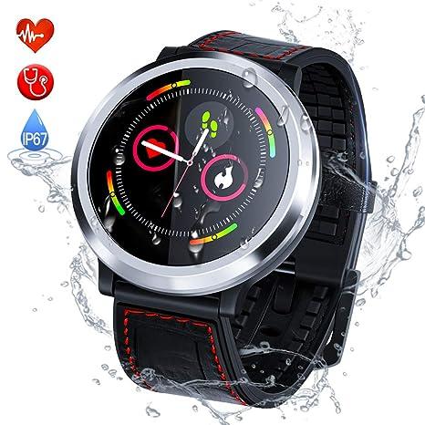 Zagzog Reloj Inteligente Hombre Mujere Pulsera Actividad Multifuncion Color Monitor Reloj Deportivo Impermeable IP67 Pulsera Inteligente