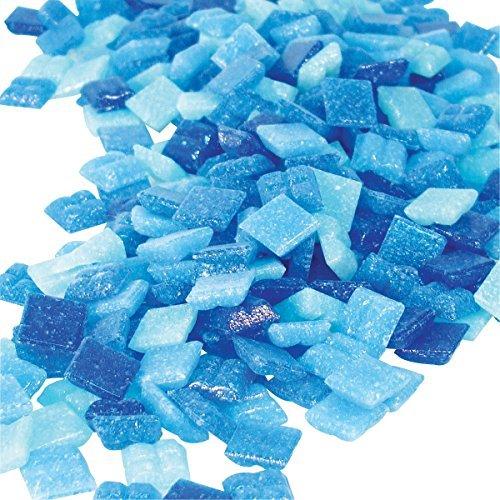 (Jennifer's Mosaics Denim Mix 3/8-Inch Venetian Style Glass Mosaic Tile, Assorted Colors, 8-Ounce, Model: T326 8 OZ 3/8, Tools & Hardware store)
