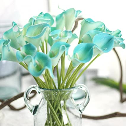 35bc0a811 Amazon.com: Yezijin Fake flower, 6 PC Artificial Touch Calla Lily Fake  Flower Wedding Home Decor Bouquet (E): Home & Kitchen