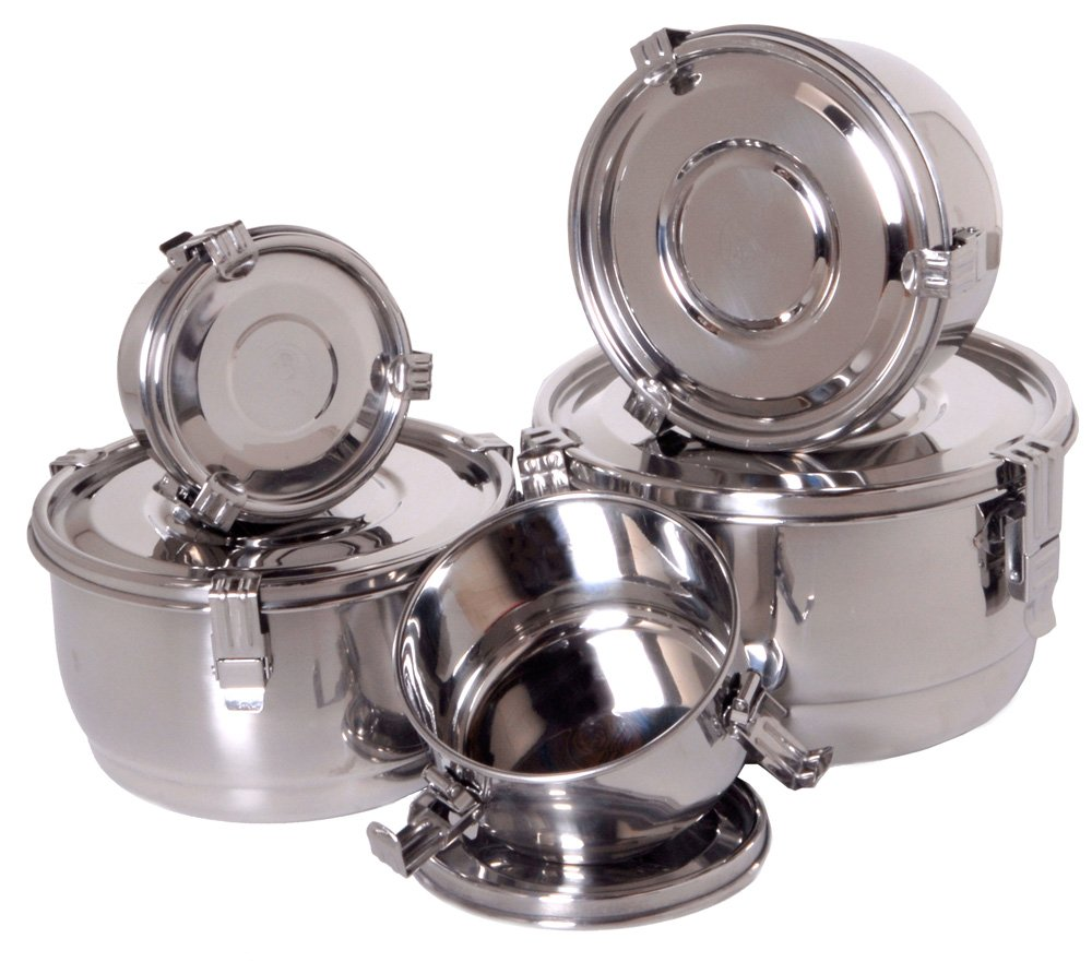 Amazon.com Stainless Steel Bowls with Lids - Airtight Leak Proof Lunch Bowls Coffee Containers Food Storage Containers - Can be Used as Mixing Bowls ...  sc 1 st  Amazon.com & Amazon.com: Stainless Steel Bowls with Lids - Airtight Leak Proof ...