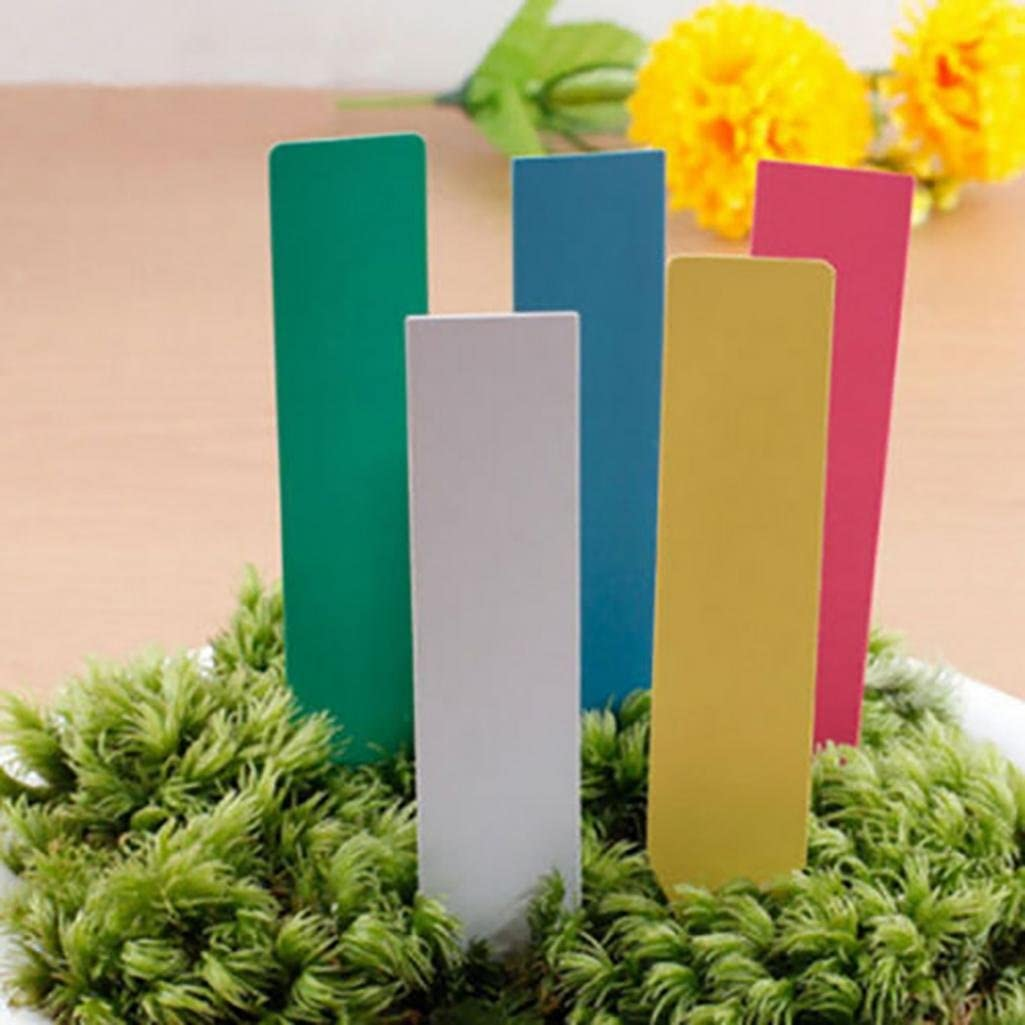 Garden Plant Pot Markers Plastic Stake Tags Yard Court Nursery O3E5 Label V7Z9