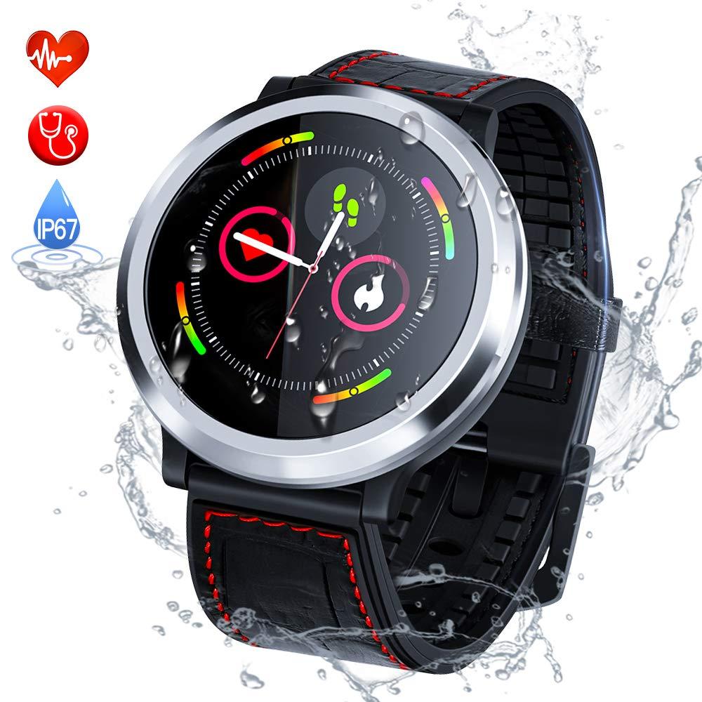 Zagzog Reloj Inteligente Hombre Mujere Pulsera Actividad Multifuncion Color Monitor Reloj Deportivo Impermeable IP67 Pulsera Inteligente para iOS Android ...