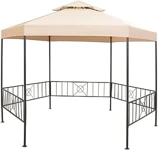 Nishore Pérgola/Cenador de Jardín Hexagonal Diseño Clásico y ...