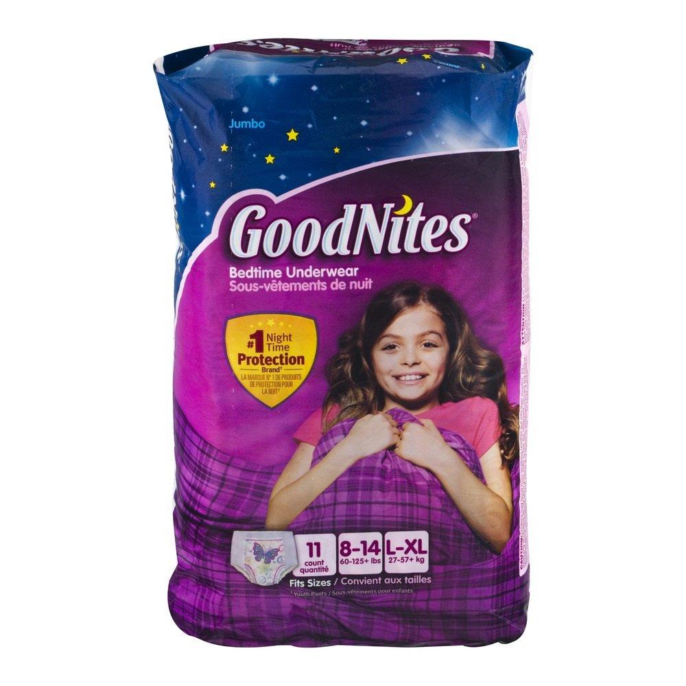 Kimberly-Clark 41316 Goodnites Youth Pant, Girl, Large/X-Large, Jumbo (Pack of 44)