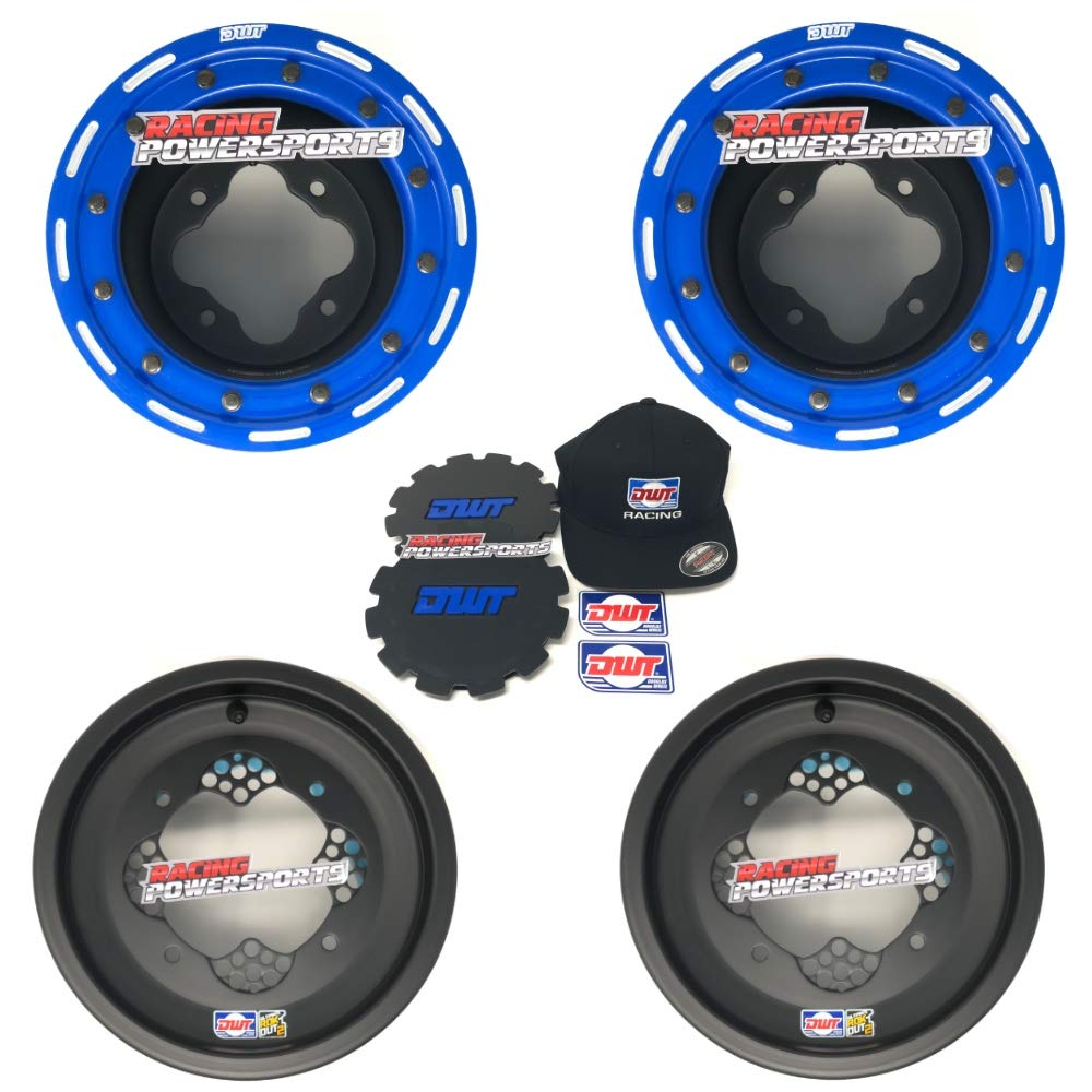 New Black 4//115 3+5 Pair of 2 Beadlock 8x8 Yamaha ATV MX Rear Wheels