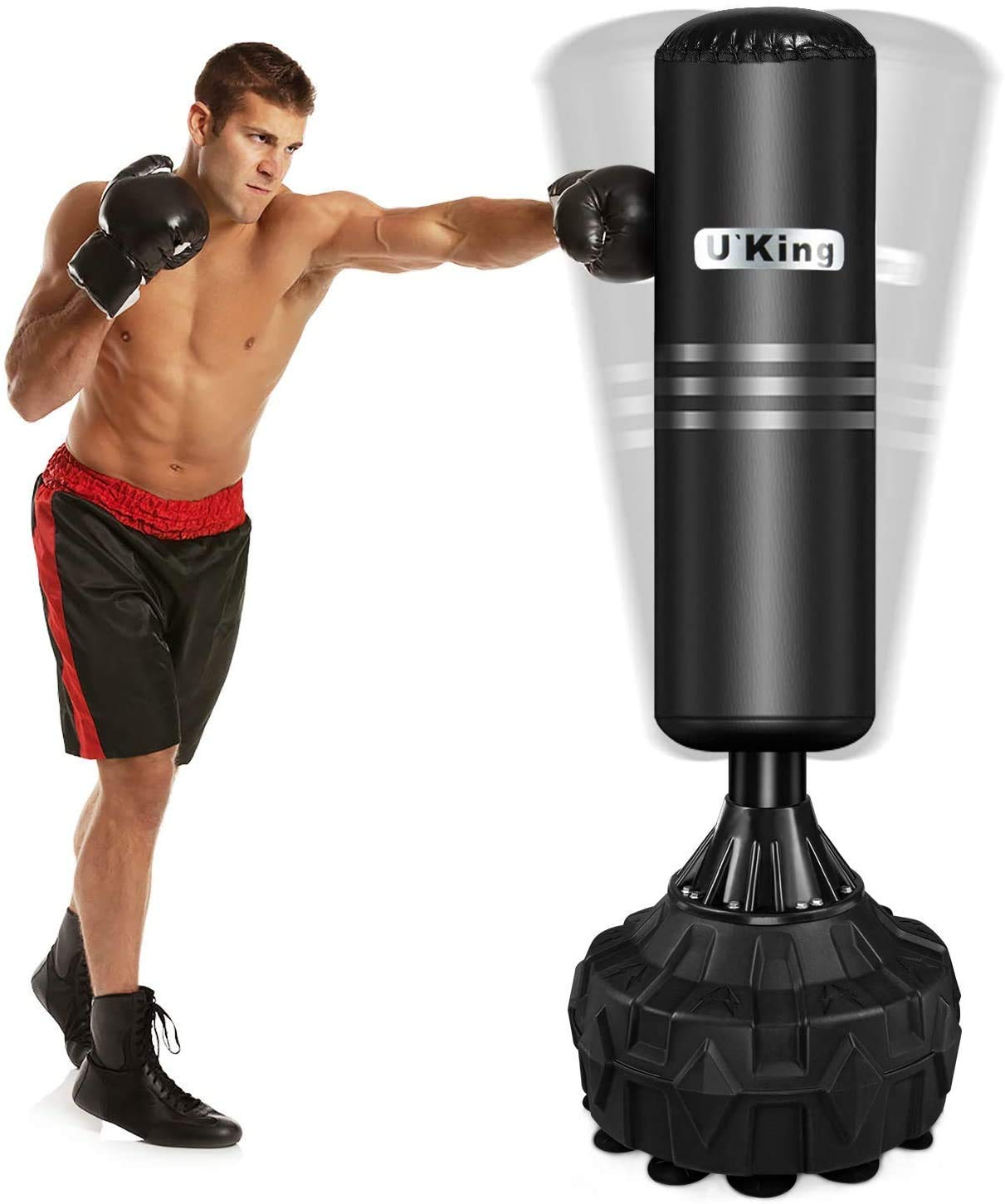 Heavy Duty Free Standing Boxing Punch Bag Kick Art UFC Training Indoor Sports UK