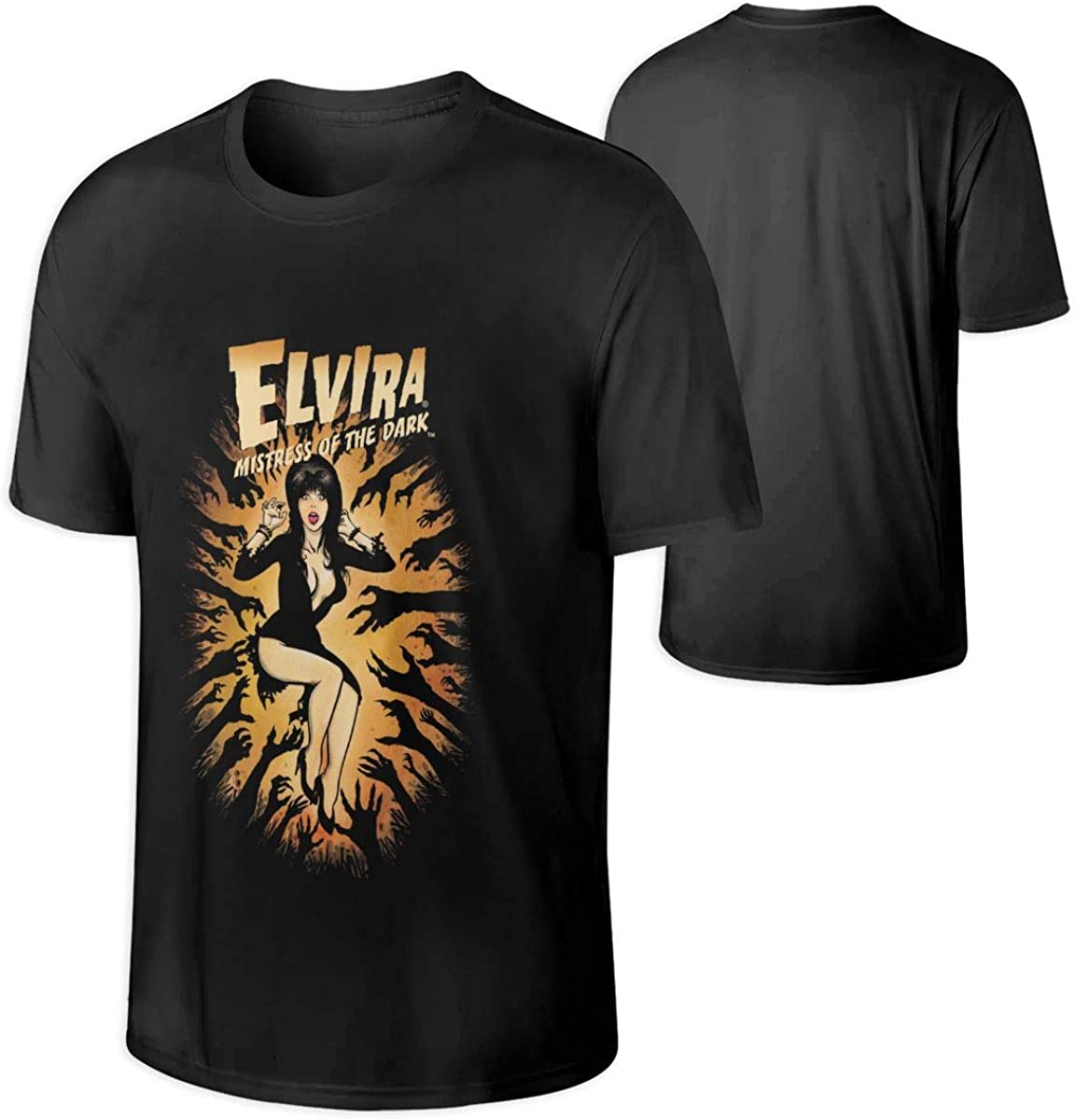 Elvira in The Dark Halloween T Shirts for Men Great Match with Jeans,Pants,Leggings,Shorts