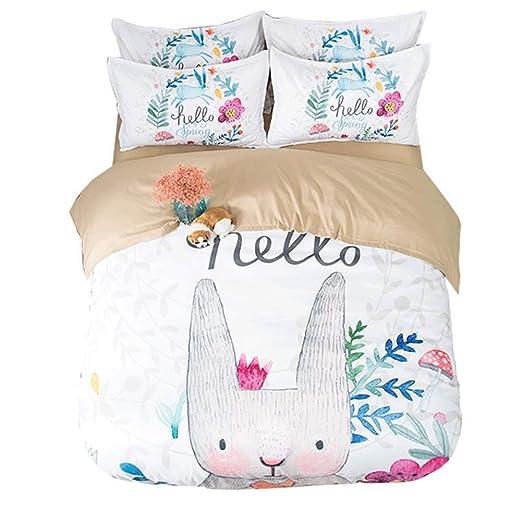 Jydan Bettbezug Sets Einfach Schön Karikatur Hase Drucken Baumwolle