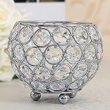 SILVER Votive crystal Crystal Bowl Candelabra Candle Holders Tea light holder home decorative wedding party decoration