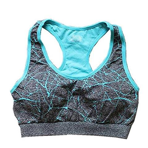 Soily-PO New Stretch Push Up Padded Fitness Breathable Seamless Yoga Running Tops Blue M - Las Vegas Wedding Invitation Wording