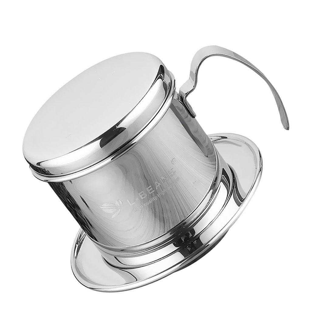 Fityle 1pc Pot Stainless Steel Vietnam Coffee Maker Drip Filter Maker Brewer 7.5cm