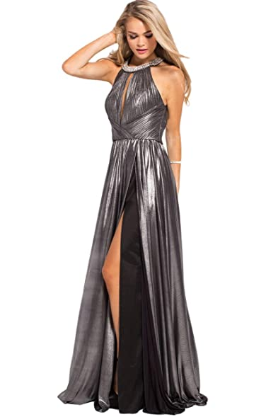 Jovani Prom 2018 Dress Evening Gown Authentic 54666 Long Silver At