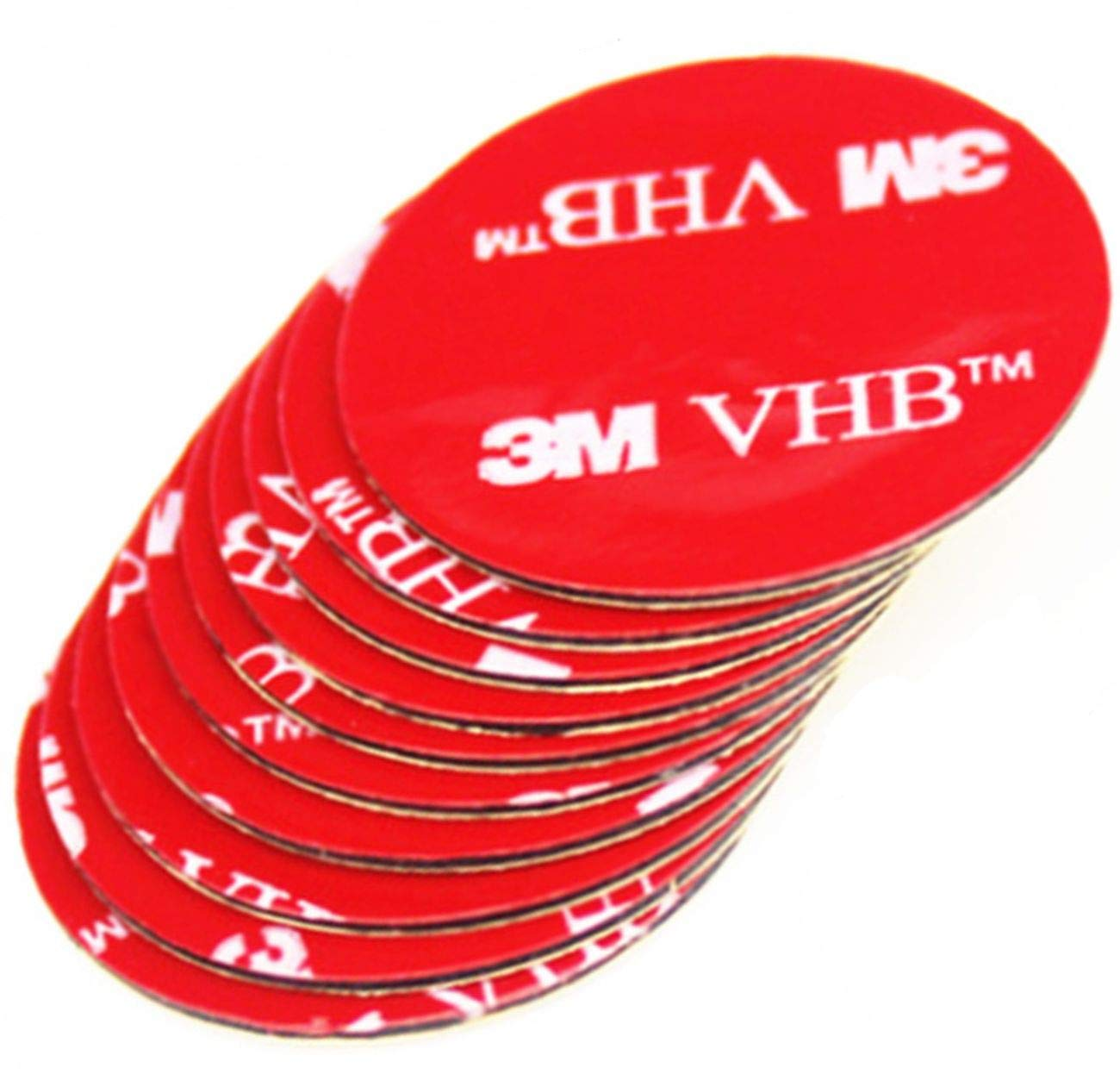 Simply the Best BLACK, GREY or CLEAR Double Sided 3M VHB Acrylic Round Tape Circles ~ 50mm Dia x 1mm Thick ~ Adhesive ART, DIY, ELECTRONICS & CAR REPAIRS Pads