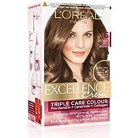 L'Oreal Paris Excellence Creme Hair Color, 6 Natural Light Brown, 72ml+100g