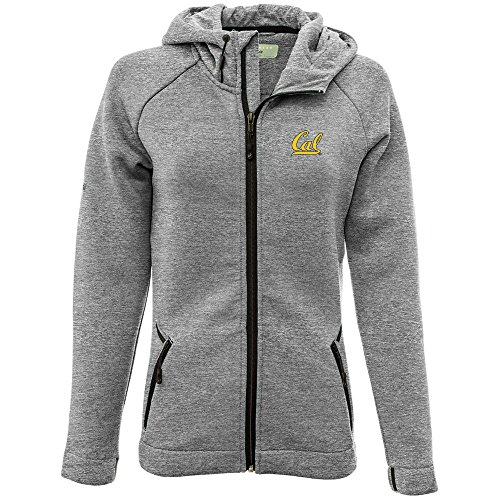 Bears Jacket - NCAA California Golden Bears Adult Women Motion Insignia Full Zip Hooded Jacket, Small, Heather Pebble