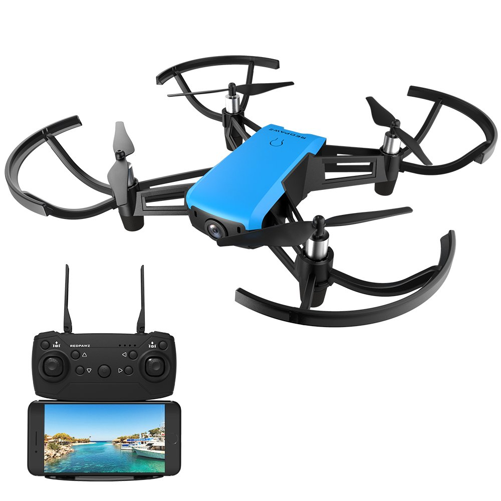 REDPAWZ R020 BLAST WIFI Quadcopter Drone with Camera Live Video, 720P Wide-Angle FPV Drone 2.4G Racing Drone Altitude Hold Gravity Sensor