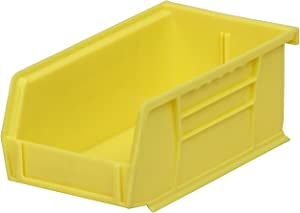 Akro-Mils 30220 AkroBins Plastic Storage Bin Hanging Stacking Containers, (7-Inch x 4-Inch x 3-Inch), Yellow, (24-Pack)