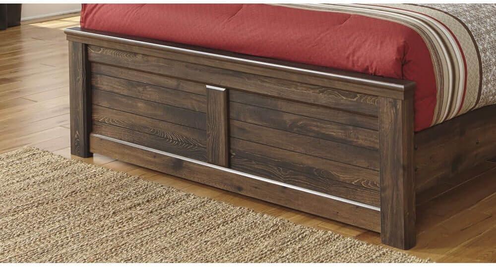 Amazon Com Ashley Furniture Signature Design Quinden Queen Panel Footboard Component Piece Dark Brown