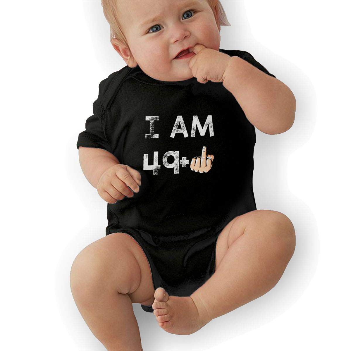 I Am 49 1 50th Birthday Casual Newborn Baby Short Sleeve Bodysuit Romper Infant Summer Clothing
