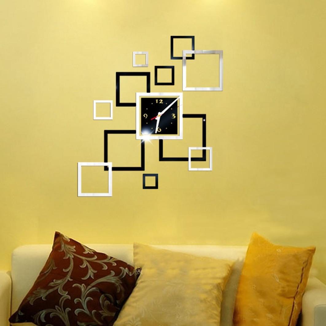 Amazon.com : DDLBiz Removable Geo Modern Diy Acrylic 3D Mirror Wall ...