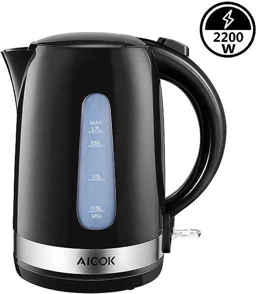 AICOK Hervidor de Agua Eléctrico 1,7 litros Hervidor de Agua ...