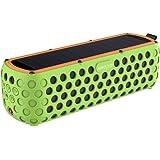Altavoz Bluetooth Portatil, Airecho Portátil Inalámbrico Bluetooth 4.0 Altavoces Exterior Cargador Solar con 30 horas de Doble Altavoz HD Stéreo y sin pérdidas para el deporte al aire libre playa o piscina (a prueba de salpicaduras y a prueba de golpes) - Verde