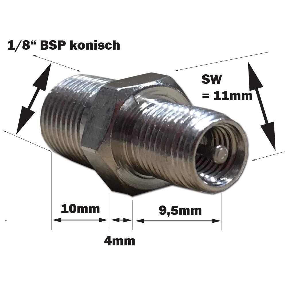"Kfz Prüfventil Füllventil Autoventil Ventileinsatz 1//8/"" Außengewinde Vg8 AGR"