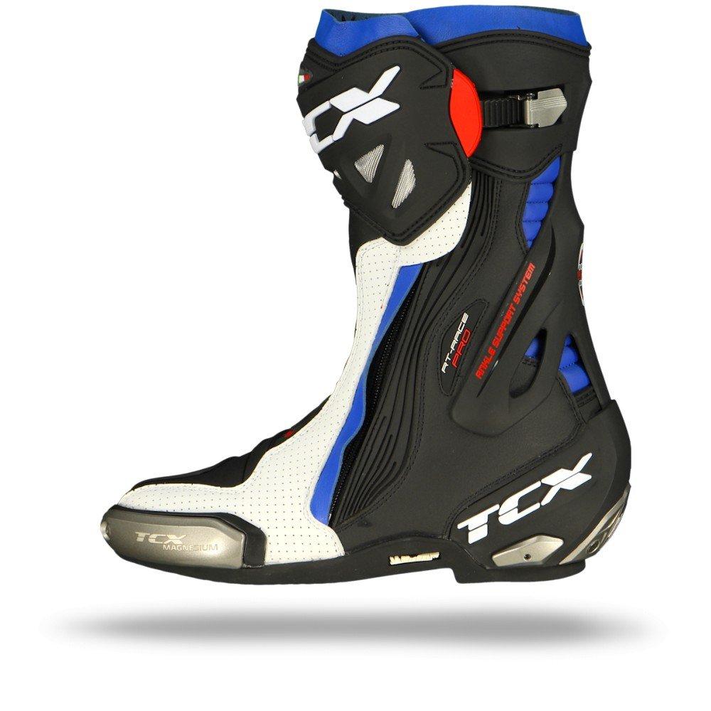 wei/ß//schwarz//blau TCX Motorradstiefel RT-Race PRO AIR wei/ß//schwarz//blau 47