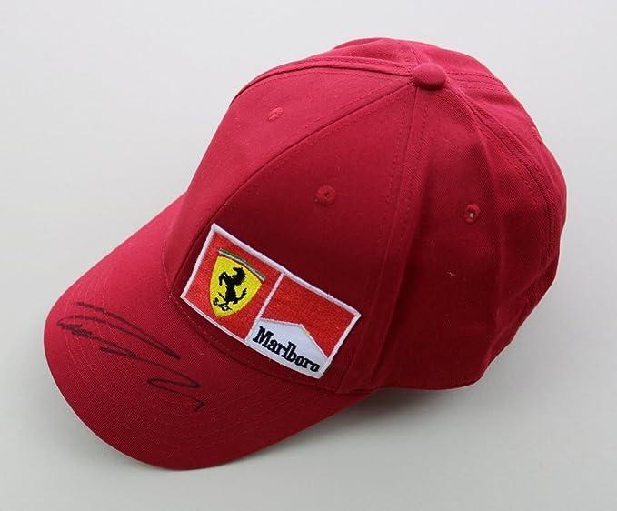 NIKI lauda firmado rojo gorra autógrafo Motorsport Ferrari F1 ...