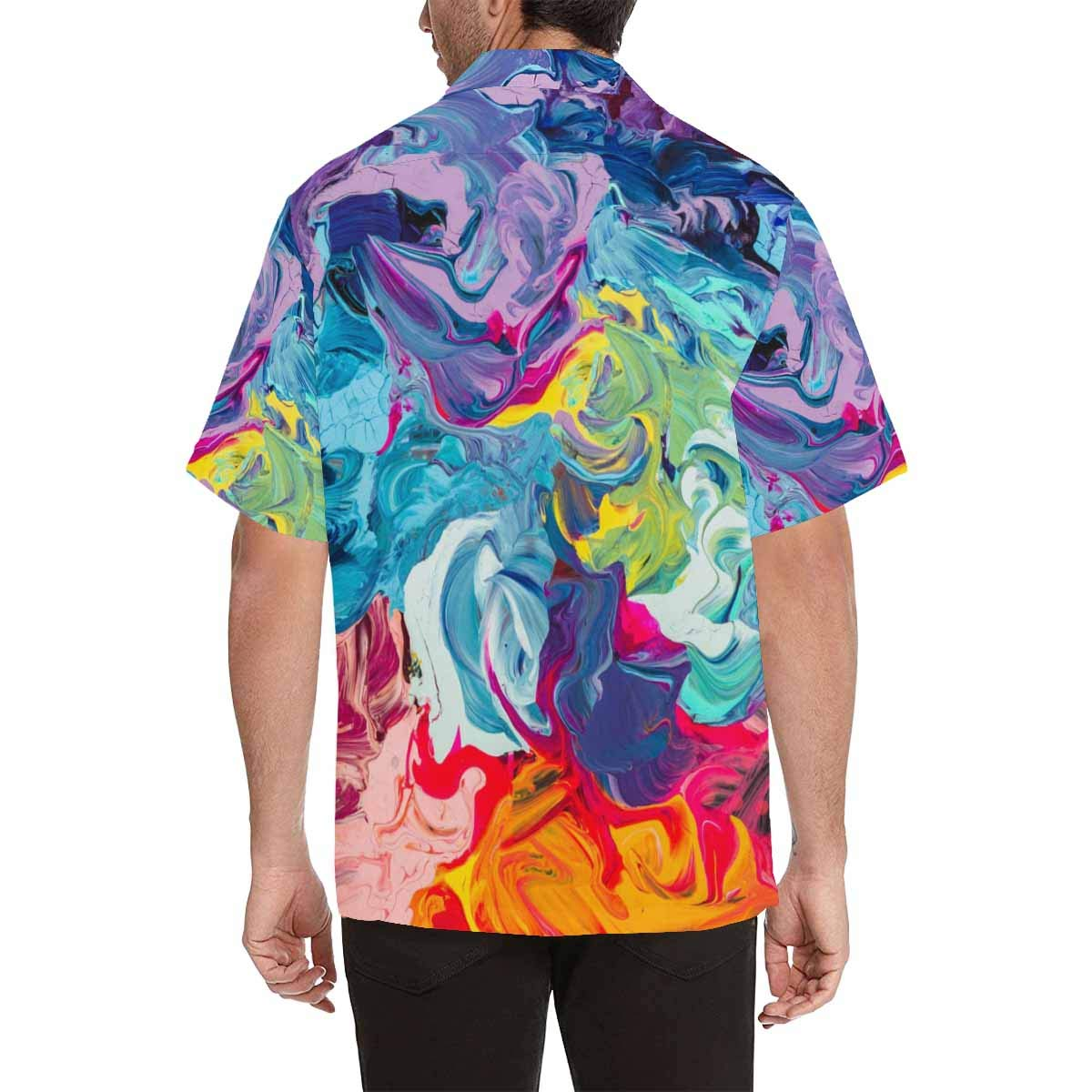 InterestPrint Beautiful Ditsy Floral Short Sleeve Button Up Casual Shirt