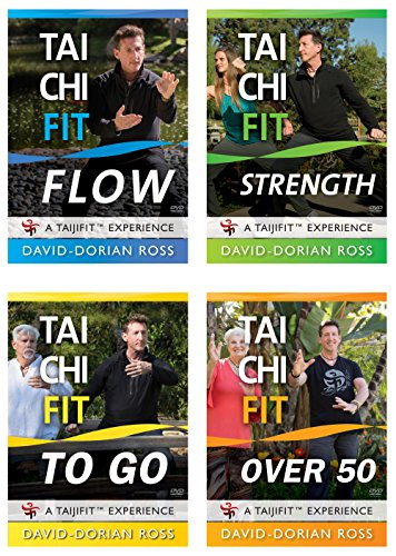 Bundle: Tai Chi Fit 4-DVD Collection with David-Dorian Ross (YMAA) Tai Chi Exercises for Beginners, Seniors, and more. by YMAA